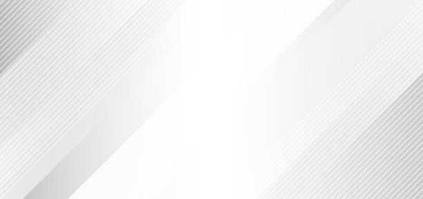 illustrazioni stock, clip art, cartoni animati e icone di tendenza di astratto elegante sfondo bianco e grigio con linee a strisce diagonali. - sfondi