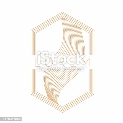 Abstract element with dynamic lines. Vector illustration in flat minimalistic style