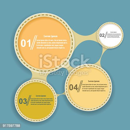 istock Abstract elements of infographics on a blue background. Vector illustration 917597788
