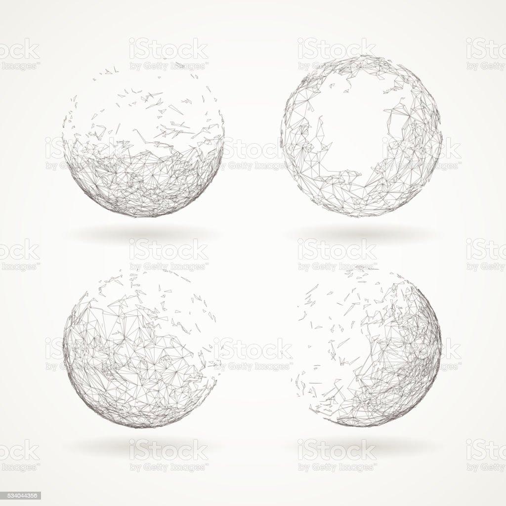 Abstract elements vector art illustration