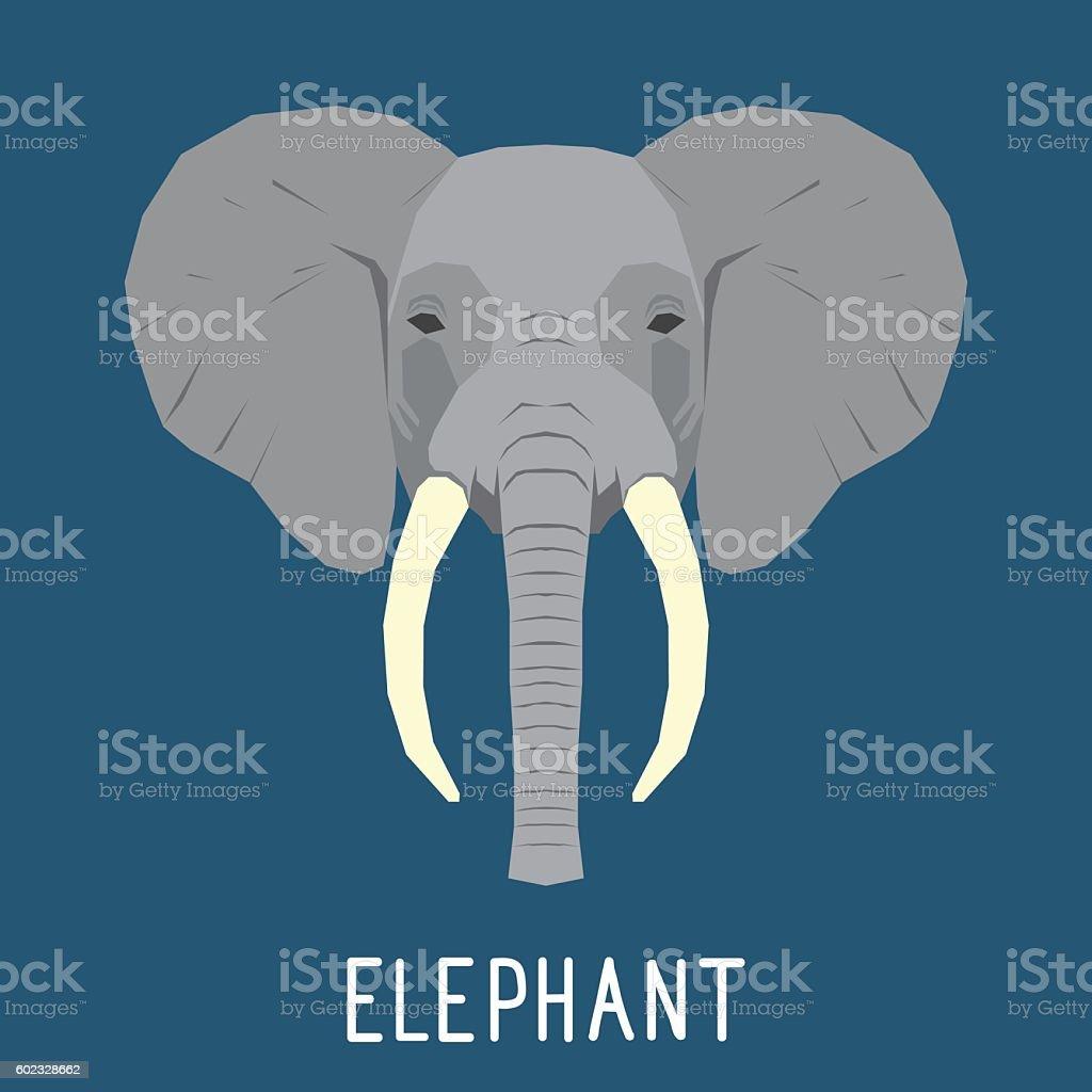 Abstract elephant portrait. vector art illustration