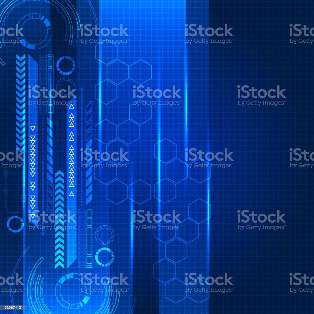 Abstract engineering future technology background vector art illustration
