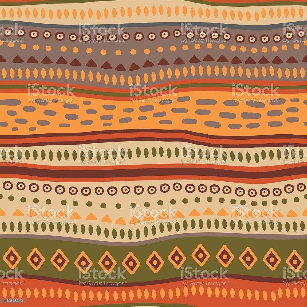 Abstract ethnic geometric pattern vector art illustration