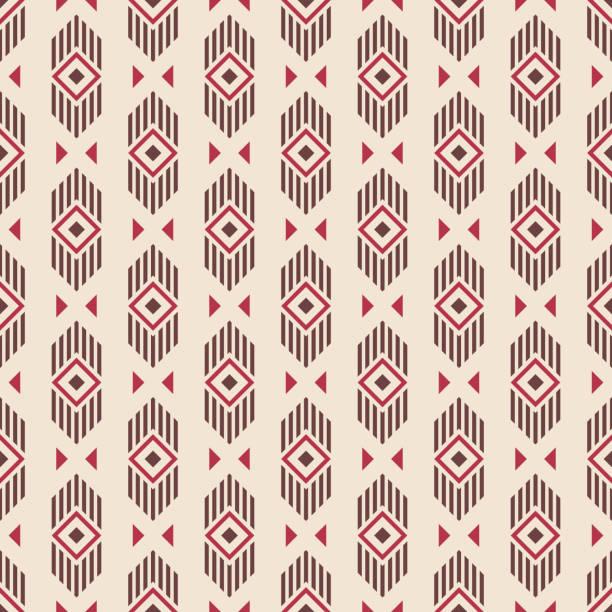 Abstract ethnic geometric pattern. vector art illustration