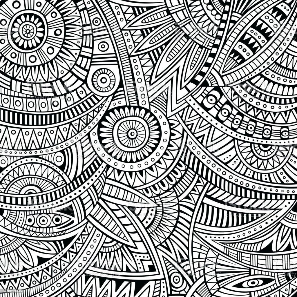 Abstract ethnic seamless pattern vector art illustration
