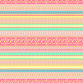 Abstract ethnic seamless pattern, vector illustration, vintage ornamental background. Ornate horizontal multicolor colorful tracery for fabric design, textile, wallpaper and decoration, tribal art print