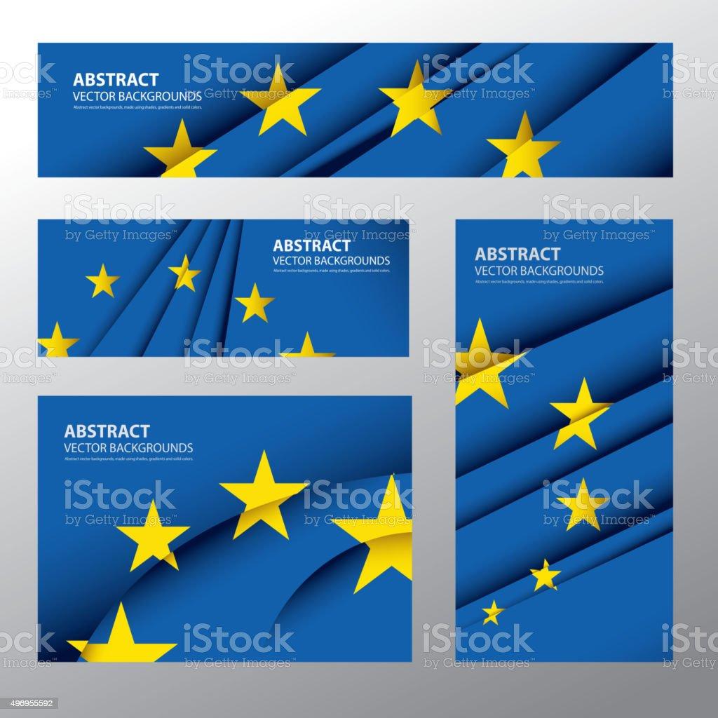 Abstract Europe Flag, European Colors (Vector Art) vector art illustration