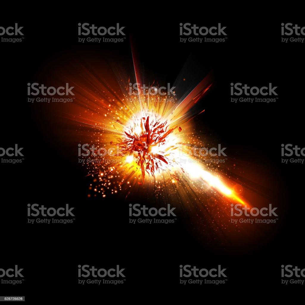Abstract explode effect vector art illustration