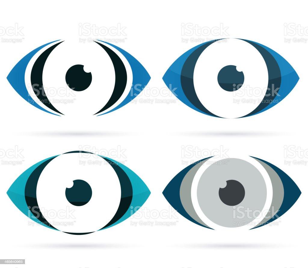 Abstract eye icon vector art illustration