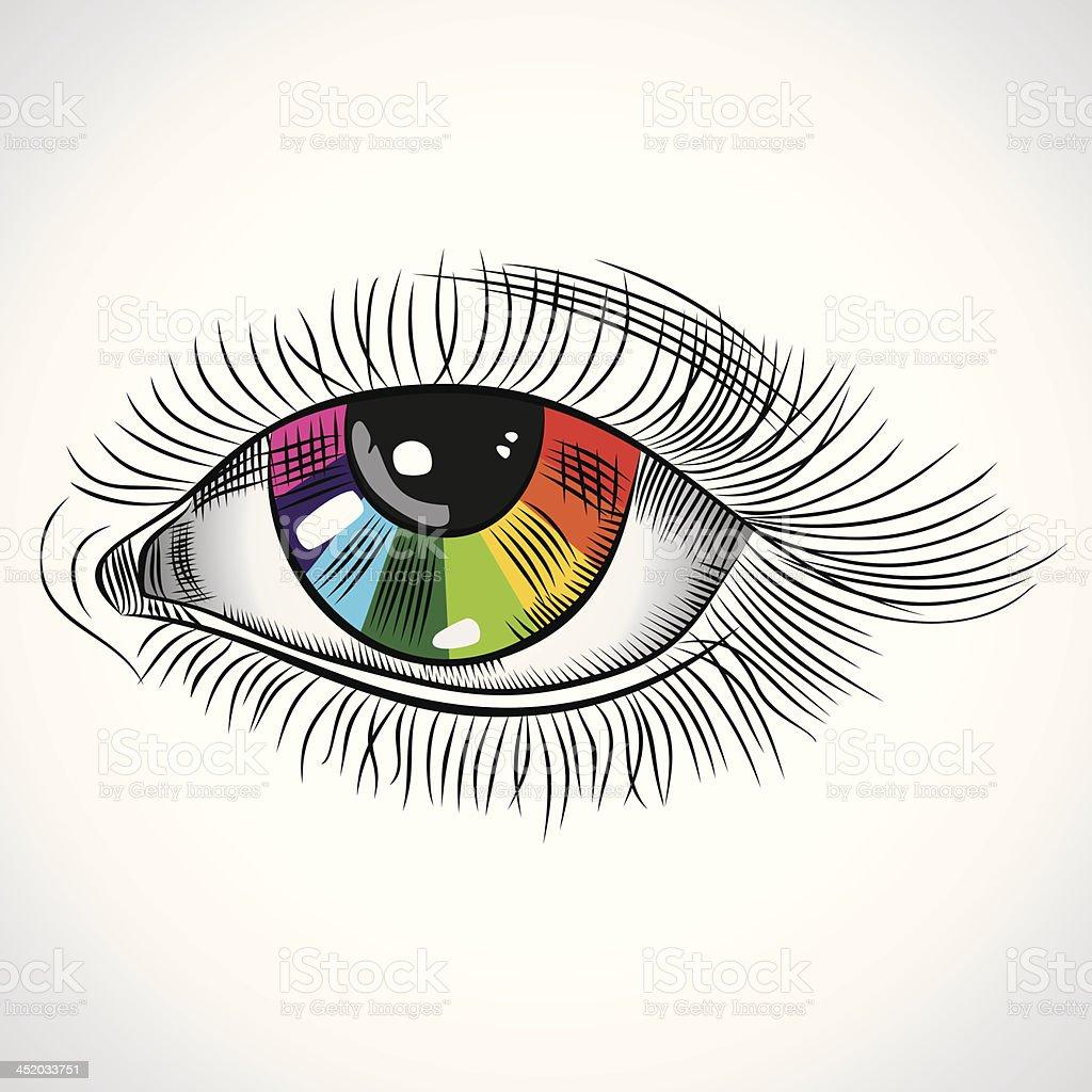 abstract eye royalty-free stock vector art