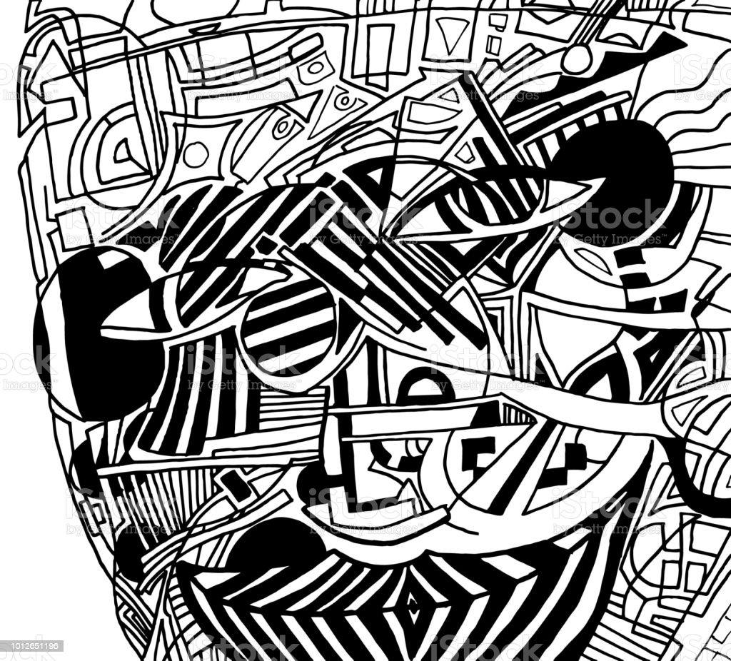 Abstrakte Gesicht Hintergrund Malvorlagen Stock Vektor Art und mehr ...