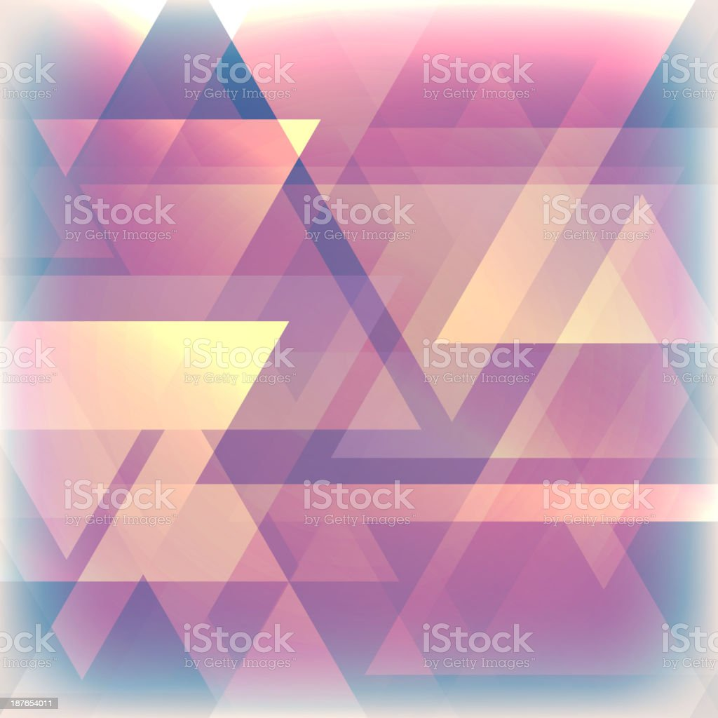 abstract faded background with triangles royalty-free stock vector art