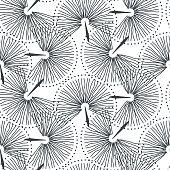 Abstract fan seamless vector pastel pink seamless pattern. Elegant minimal rose purple repeat texture.