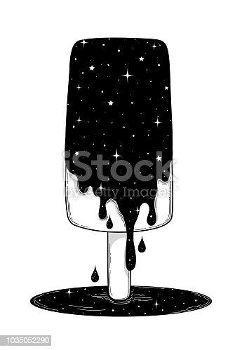 Abstract fantasy hand-drawn ice cream