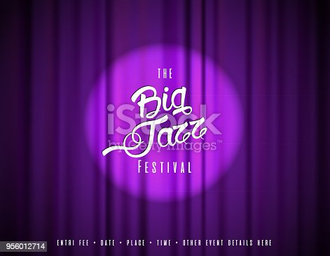 istock Abstract festival invitation background template with tunes. 956012714