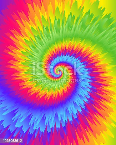 istock Abstract festive colorful background, Bright rainbow Tie Dye pattern 1298083612