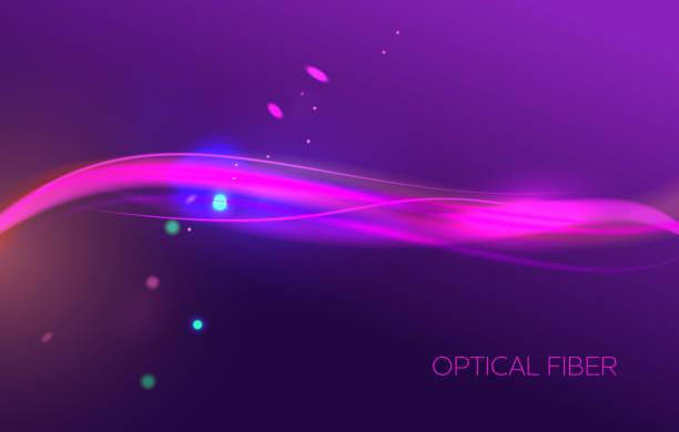Abstract Fiber Network Background vector art illustration