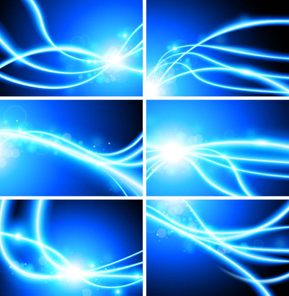 abstract fiber optic lights Background abstract fiber optic lights background pattern stock illustrations