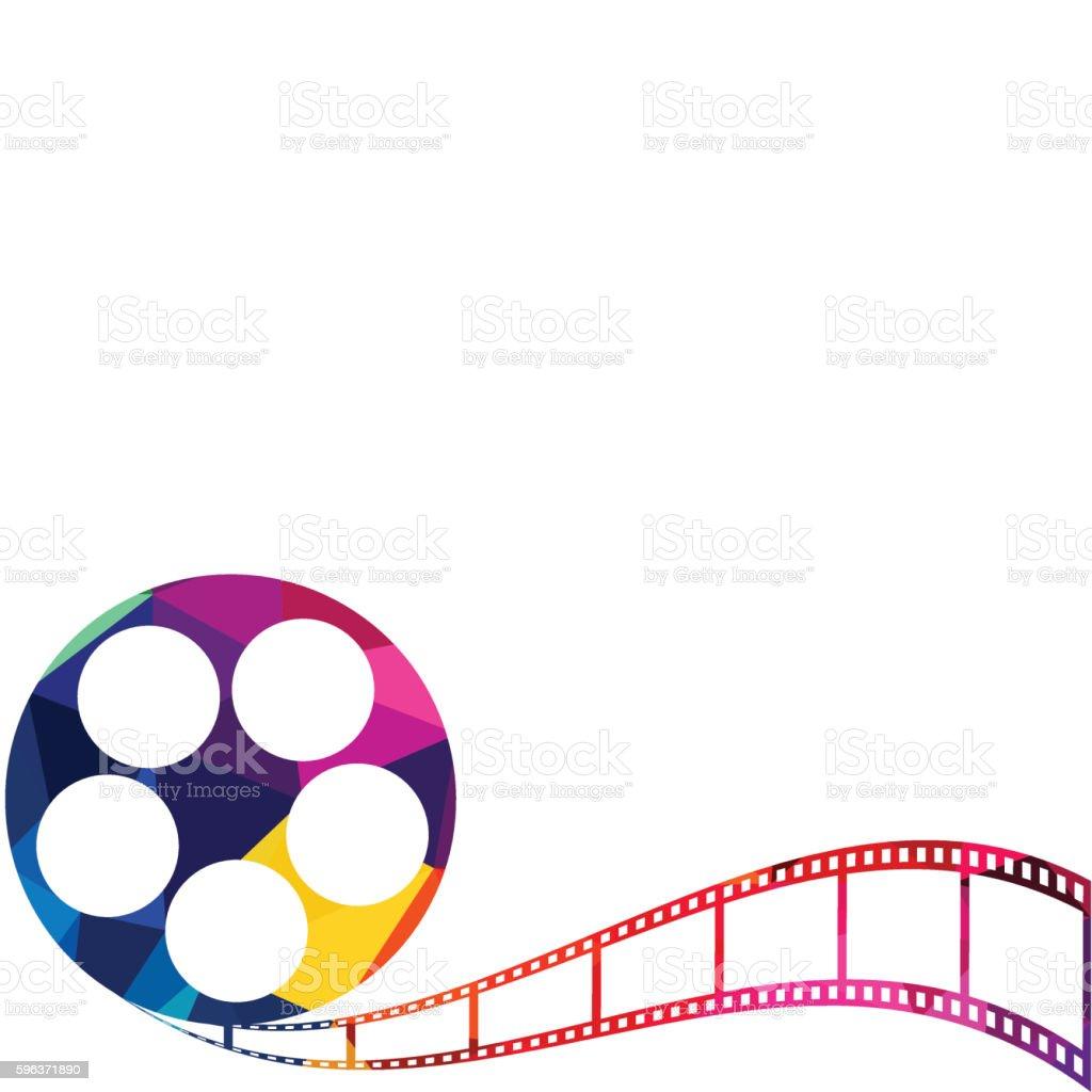 Abstract film reel polygon background vector illustration vector art illustration