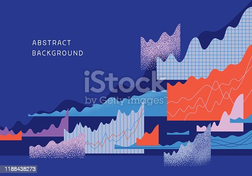 Modern background design with abstract graphs and textures.  Fully editable vector.