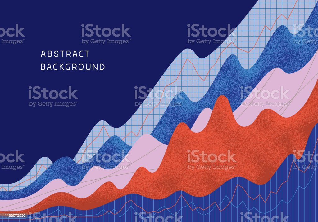 Abstrakter finanzieller Hintergrund - Lizenzfrei Abstrakt Vektorgrafik