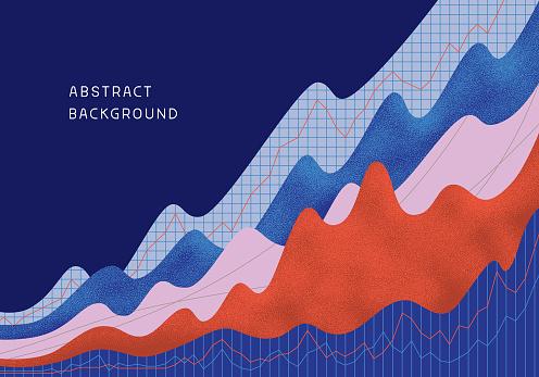 Abstract Financial Background - Immagini vettoriali stock e altre immagini di Affari