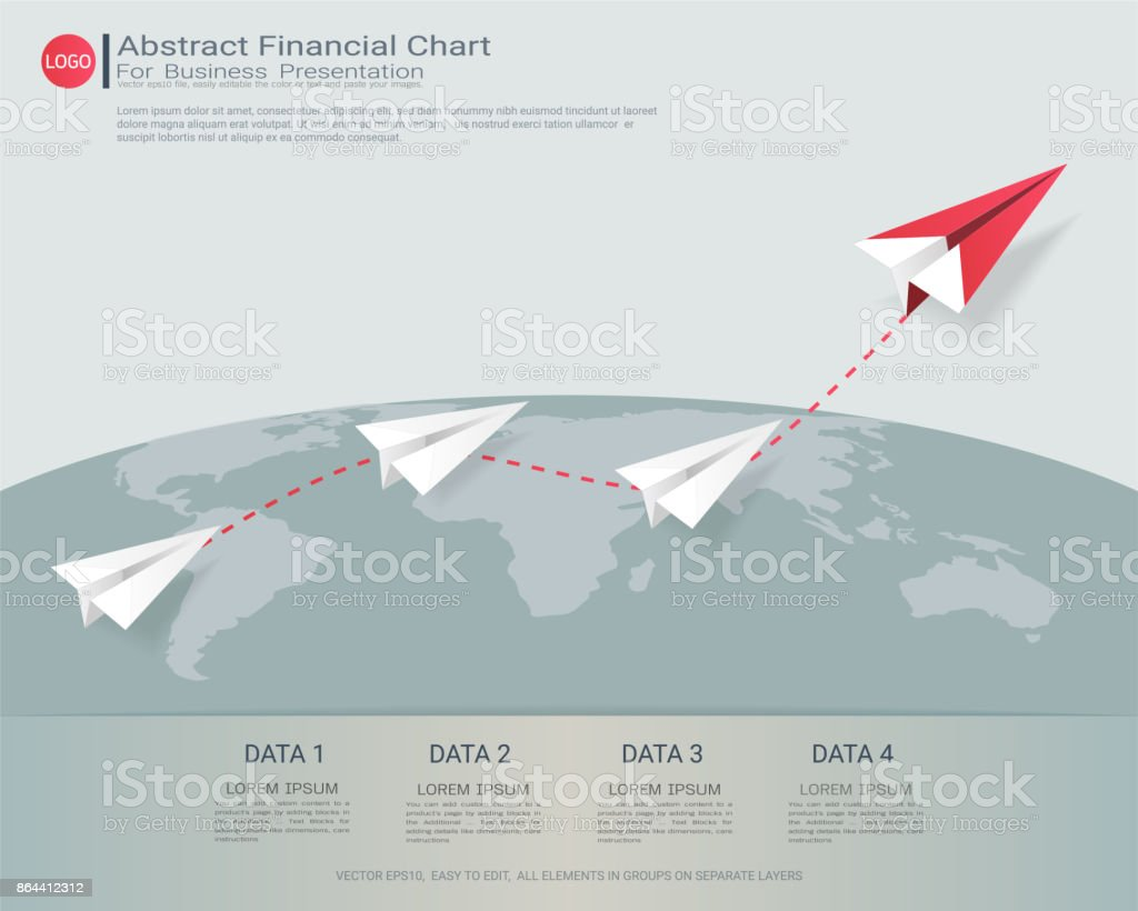 Abstract Financial Chart With Uptrend Line Graph Communicates Data