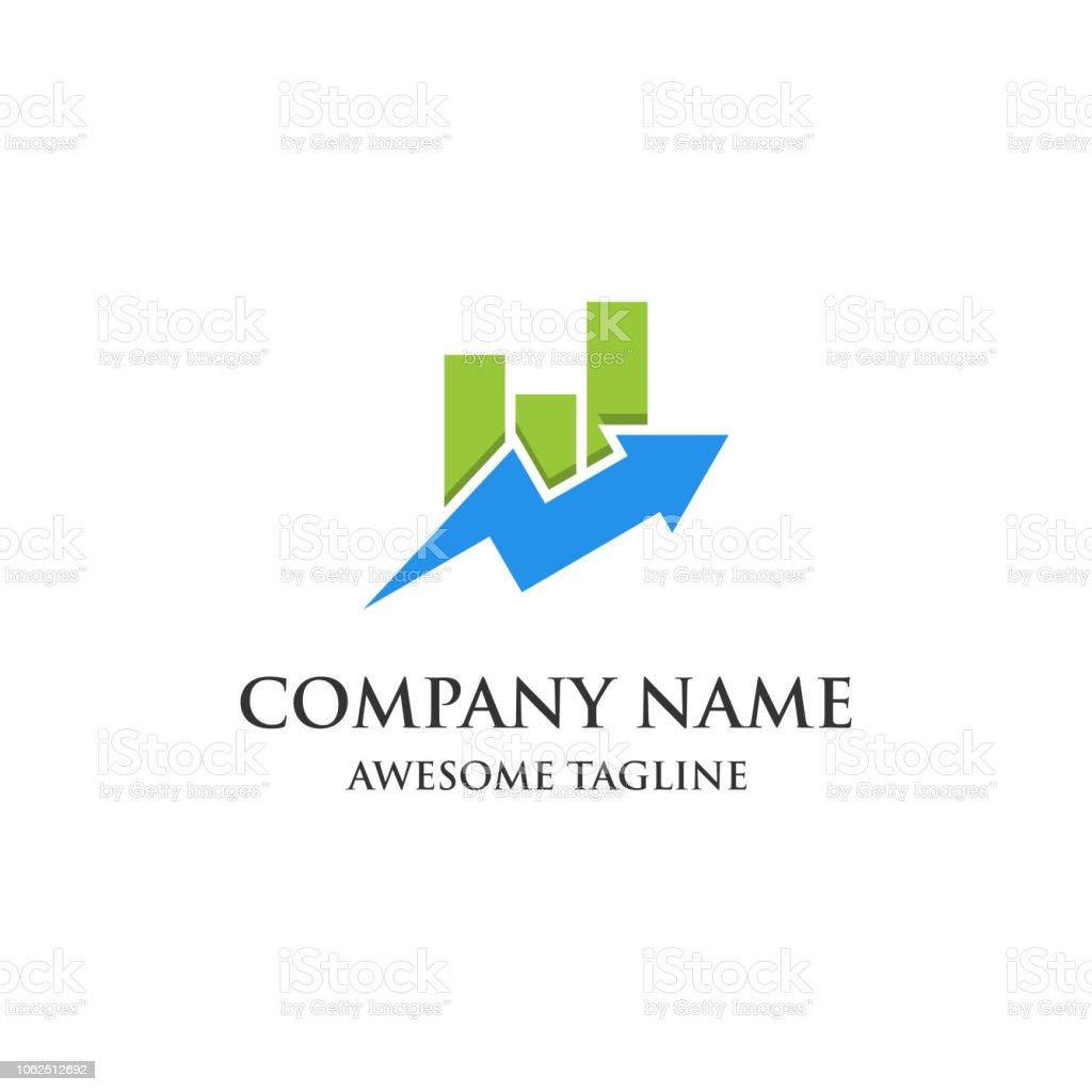 金融市場のロゴを抽象化します金...