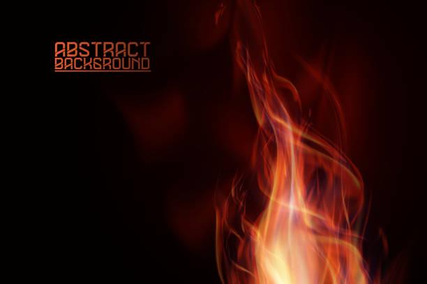 stockillustraties, clipart, cartoons en iconen met abstract vuurvlammen - illustraties van bosbrand