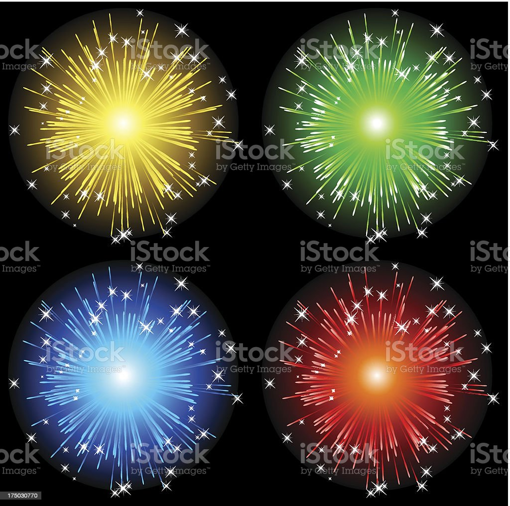 Abstract fireworks  background royalty-free stock vector art
