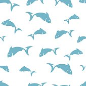 Abstract fish pattern