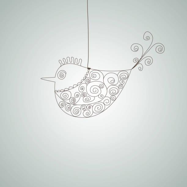 ilustrações de stock, clip art, desenhos animados e ícones de abstract fish. vector illustration - pena de pássaro algodão