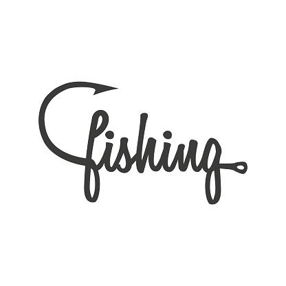 Abstract fishing logo