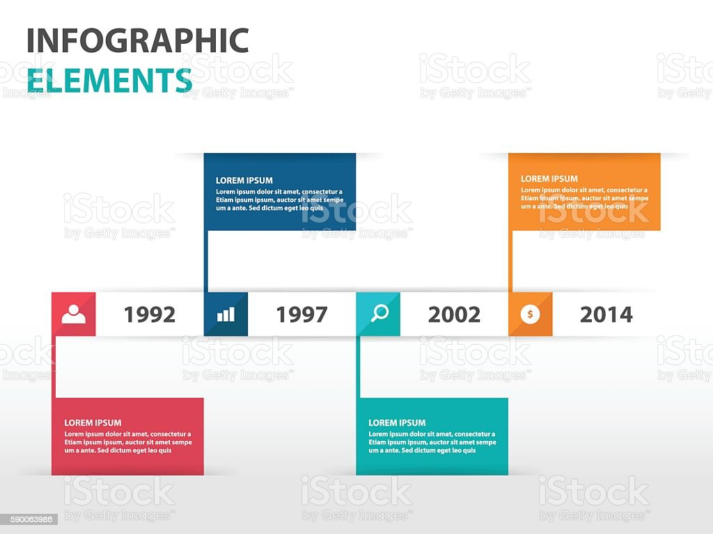 abstract flag business timeline infographics elements presentation