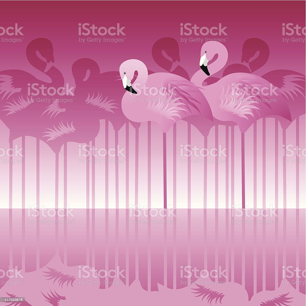 Abstract Flamingo royalty-free stock vector art