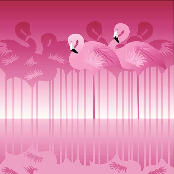 Abstract Flamingo vector art illustration