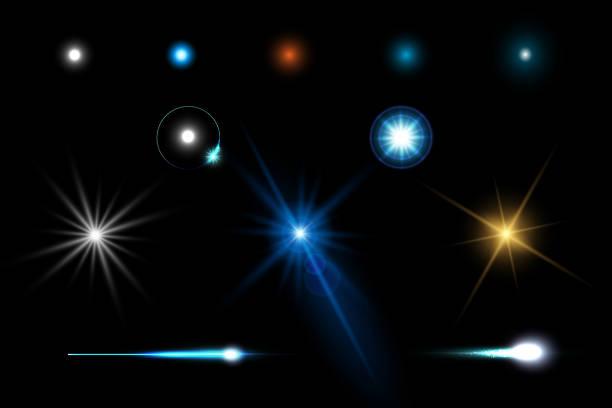 abstrakte fackel lichtgeschwindigkeit lichteffekt elemente designkonzept - hell leuchtkraft stock-grafiken, -clipart, -cartoons und -symbole
