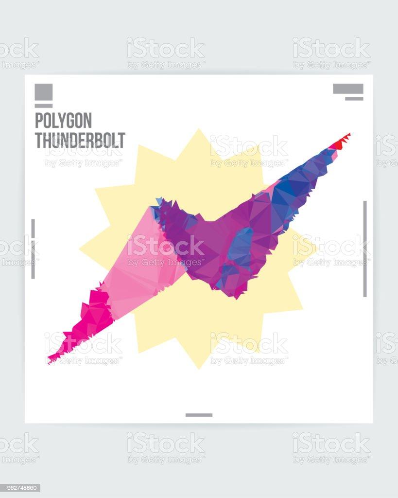 Modelo de Layout de cartaz abstrato símbolo Flash Design gráfico - Vetor de Abstrato royalty-free