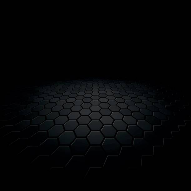 abstract floor perspective black texture background vector art illustration