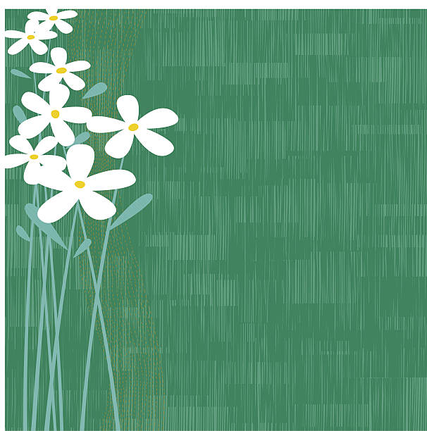 Abstract floral and green background vector art illustration