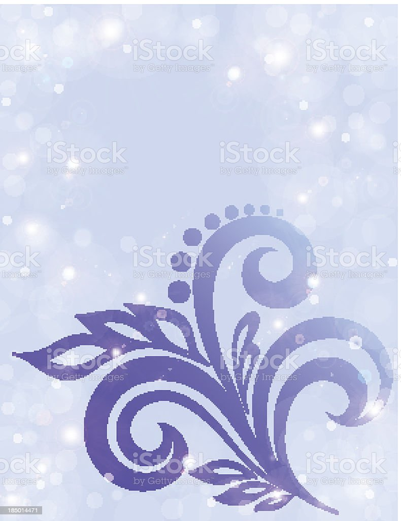 Abstract floral background in pastel colors royalty-free stock vector art
