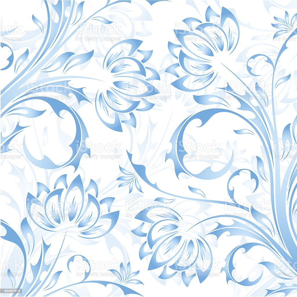 Abstract floral background of white and blue royalty-free abstract floral background of white and blue stock vector art & more images of abstract