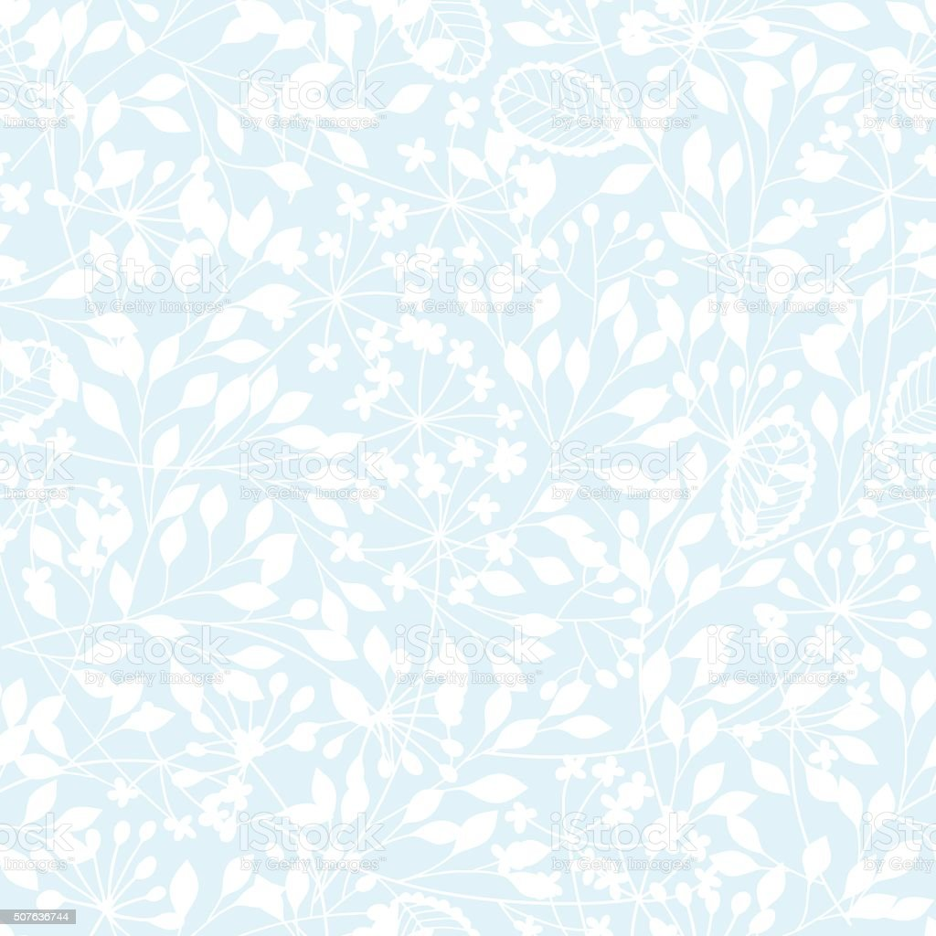 Abstract Floral Background Seamless Pattern With Hand Drawn