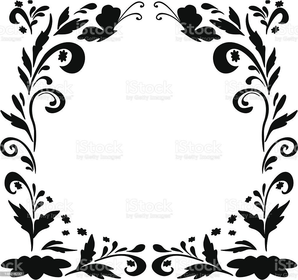 Abstract floral background, silhouettes royalty-free abstract floral background silhouettes stock vector art & more images of abstract