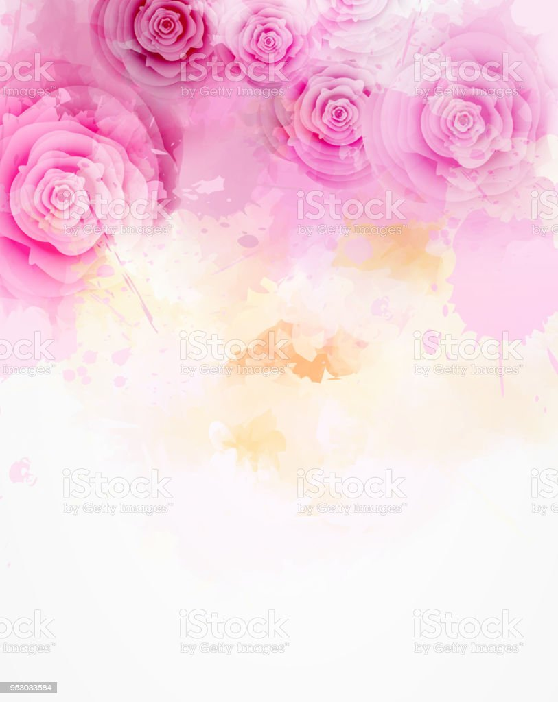 Abstract floral background vector art illustration