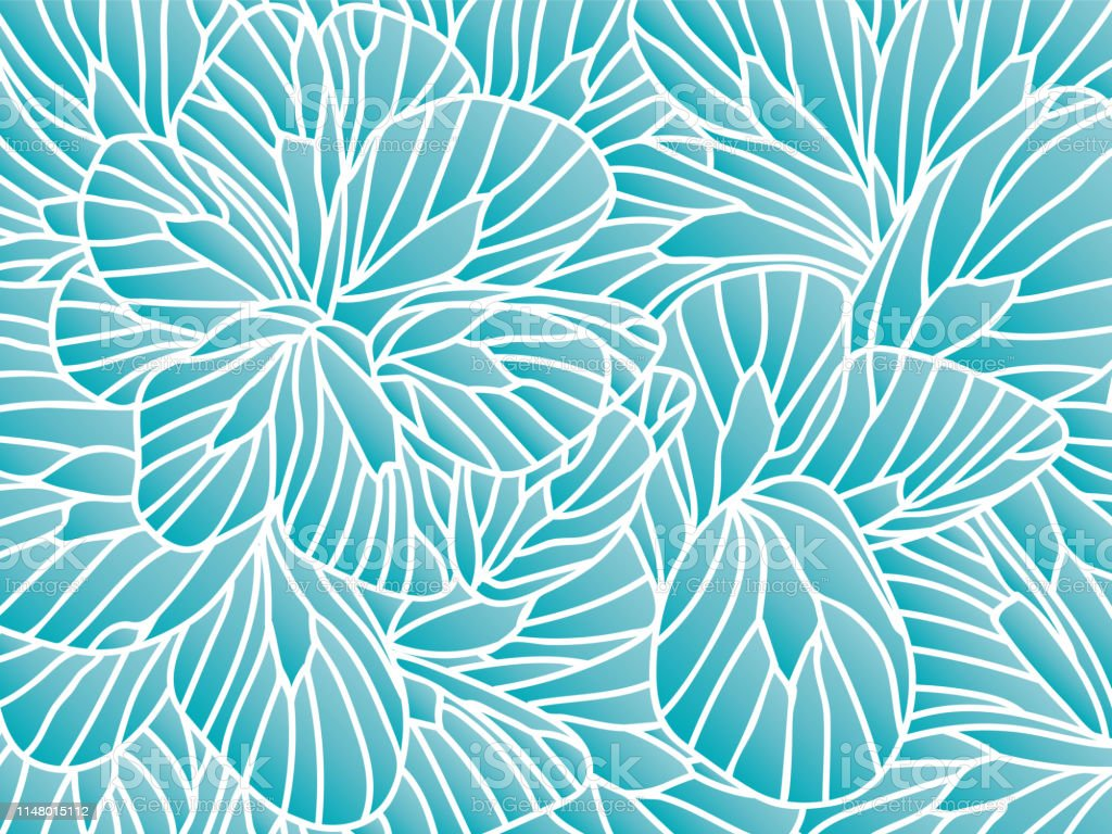 Abstract Floral Background With Flowers Doodle Line Art For Summer