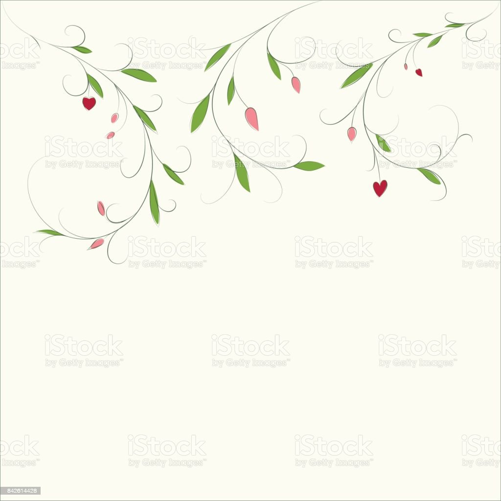 Abstract Floral Background With Place For Your Text Vector Branch