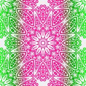 Abstract Floral Color Pattern. Seamless Vector Illustration. For Fantastic Design, Wallpaper, Background, Print. Neon color