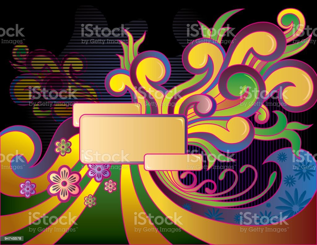Abstract floral conposition royalty-free stock vector art