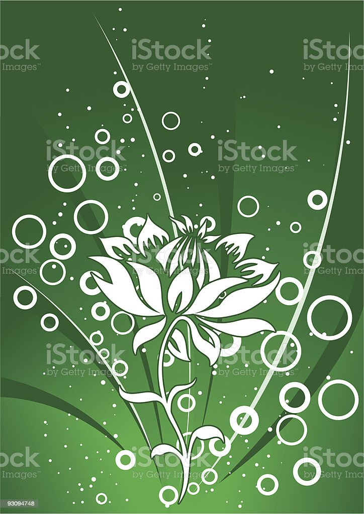 abstract floral decorative background with circles vector illustration royalty-free abstract floral decorative background with circles vector illustration stock vector art & more images of abstract
